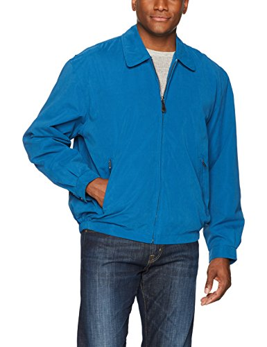 London Fog Men's Auburn Zip-Front Golf Jacket, Pacific Blue, XXLarge