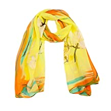 YJH Women Lightweight Fashion Scarf Silk Scarves Sheer Scarf Shawl Wrap