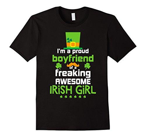 Proud Irish Girl (Men's Proud Boyfriend Of Freaking Awesome Irish Girl T-Shirts Gift Small)