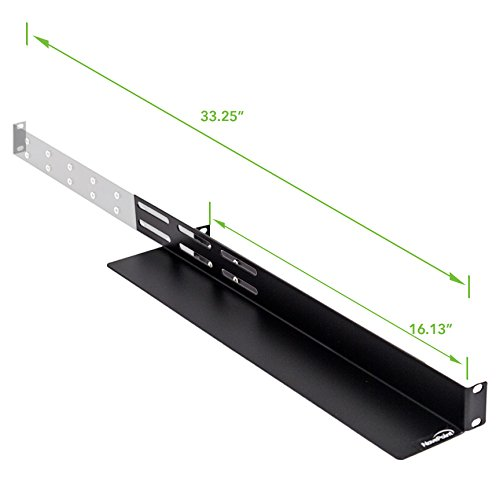 NavePoint Adjustable Rack Mount Server Shelf Shelves Rail Rails 1U