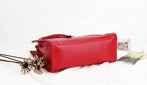 femme bandoulière à Rouge cuir Sac fashion LF épaule Valin main Sac en portés Sac M130 AtOU1nq8