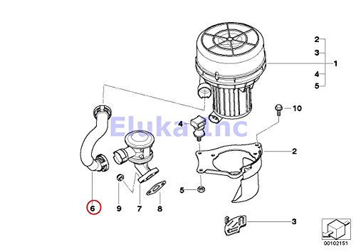 BMW Genuine Secondary Air Injection Hose - Pump To Valve Z4 2.5i Z4 3.0i ()