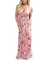 Sherrylily Women Floral Printed Slit Side V...