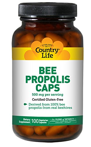 Country Life – Pure Bee Propolis Caps, 500 mg – 100 Vegetarian Capsules For Sale