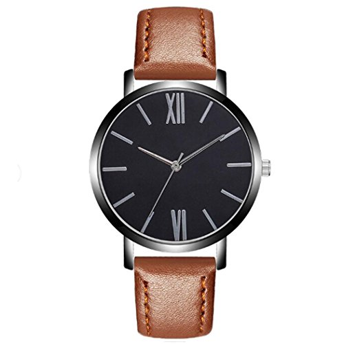 Youcoco Men's Casual Synthetic Leather Analog Quartz Wrist Business Watches Wrist Watches by Youcoco