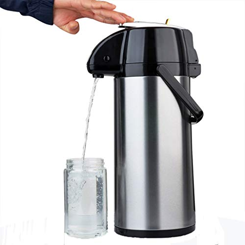 Insulation Pot 2.2L Push Button Pump Pot   Double Walled Vacuum Thermos   Hot And Cold Drink Beverage   Perfect For Coffee And Tea (Size : 2.5L)