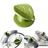 universal pot lid handle - Wiizez Universal Crockpot Cookware Lid Knob Handle Replacement | With Practical Spoon Rest and Protective Hand Grip | (2-Pack) (Green)