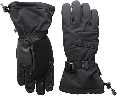 Spyder Men's Overweb Gore-tex Ski Glove, Black/Black, Large
