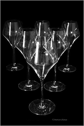 Set 6 Bohemia Crystal Long Stem Medium 12.75oz/380ml White Wine Goblet Glasses