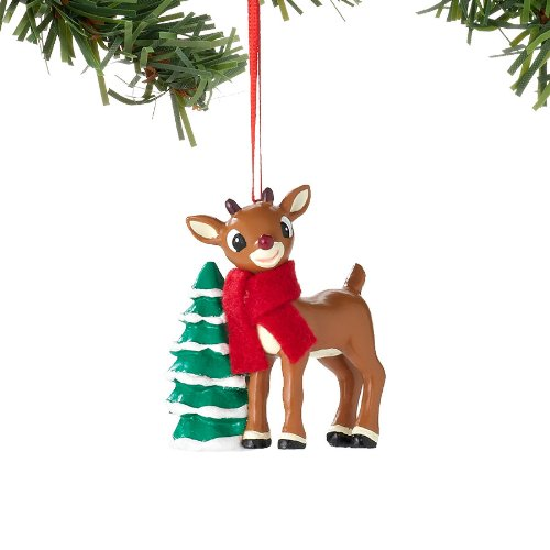 Department 56 Rudolph with Tree Ornament, 2.5-Inch
