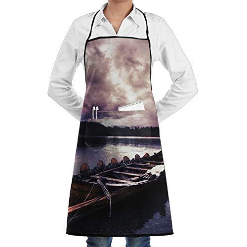 Dragon Boat Wallpaper Unisex Chef's Apron Deluxe Personalities Aprons Unisex Chef's Aprons Deluxe -