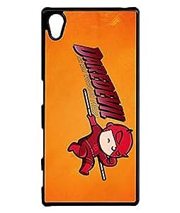 Cool Marvel Comics Sony Xperia Z5 Funda Case Daredevil [Perfect-Fit] Premium Hard Plastic Durable Funda Case Cover