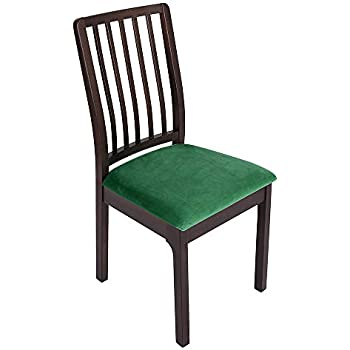 Amazon.com: Soft Velvet Dining Room Chair Seat Covers ...