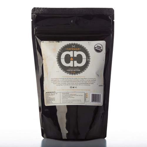 Organic Cacao Butter, Raw, Paleo Certified, Keto, Pirate Life, Vegan, Resealable Bag 1 lb
