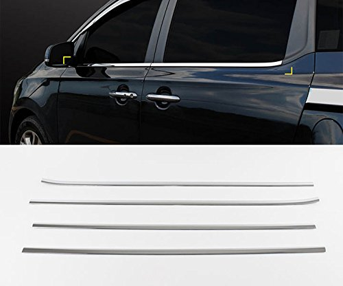 [Sell by Automotiveapple] SAFE K838 Chrome Window Accent Line Sill Moulding 4-pc Set For 2015 Kia Sedona : All New Carnival