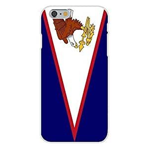 Apple iPhone 6 Custom Case White Plastic Snap On - American Samoa - World Country National Flags