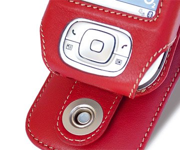 Cingular Leather (Covertec SX91/02 I-mate Jam Red Leather Case)
