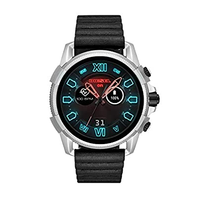 Diesel Men's 'Smartwatch' Quartz Stainless Steel and Leather Smart Watch, Color:Black (Model: DZT2008) from Diesel Connected Watches Child Code