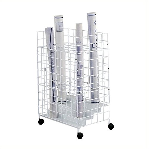 Safco Products 3088 Wire Peal File, 24 Compartment, White
