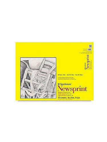 Strathmore 300 Series Newsprint Paper Pads smooth 50 sheets 18 in. x 24 in. [PACK OF 2 ] by Strathmore