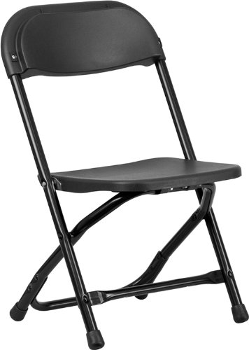 Flash Furniture Kids Black Plastic Folding Chair