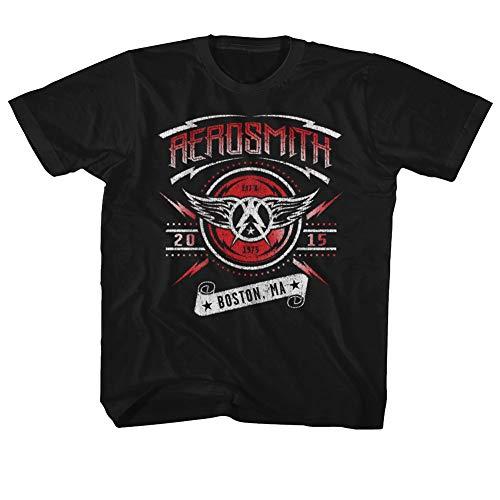 unisex Unisex Boston Aerosmith infantil camiseta 2015 negra dRXEdwx7q