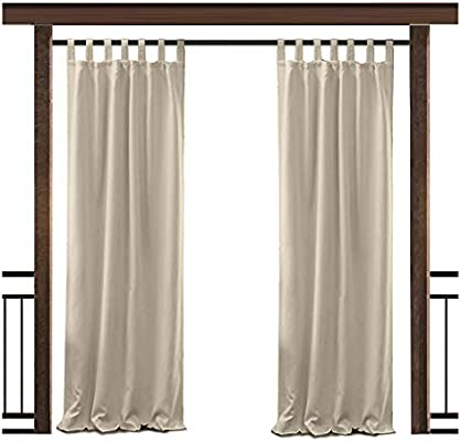 TWOPAGES Cortina Impermeable Exterior Impermeable Taburete Top Drape, para Porche Frontal Pergola Cabana Cubierto Patio Gazebo Dock Beach Home.: Amazon.es: Jardín