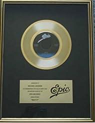 Michael Jackson Beat It 45 Gold Record Award Epic Records