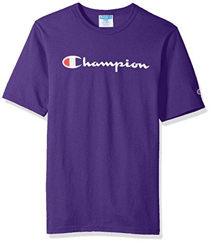 Champion LIFE Men's Heritage Tee, Purple/Patriotic Champion Script, 2XL