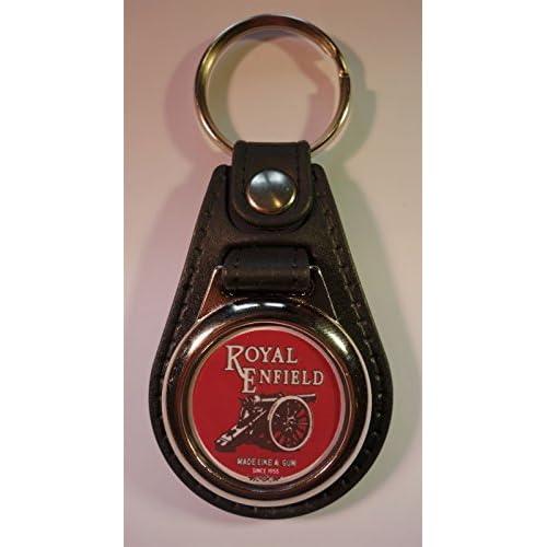 De haute qualit/é en cuir synth/étique Royal Enfield de moto anneau porte-cl/és//Porte-cl/és