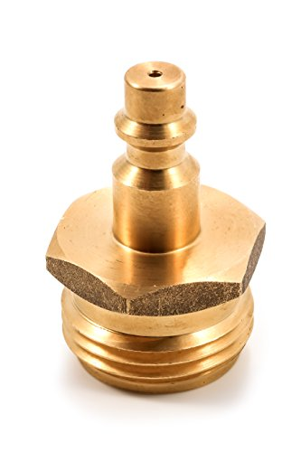 Brs Drain - Camco Blow Out Plug With Brass Quick Connect-Aids In Removal of Water From Water Lines (36143)
