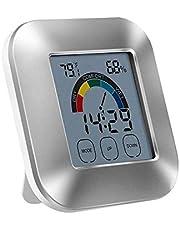 YH Termómetro Digital LCD Higrómetro Medidor de Humedad Reloj de Temperatura Interior para Uso doméstico en la Cocina