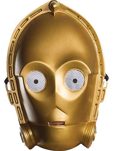 Rubie's Costume Co Unisex-Adults Star Wars Classic Ben Cooper C-3Po Mask, As Shown, One Size ()