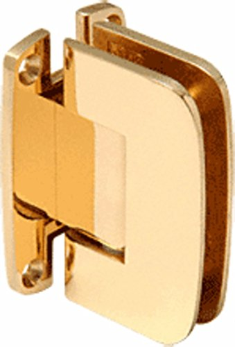 CRL Roman 537 Series Brass Wall Mount Full Back Plate Standard Hinge with 5186; Offset