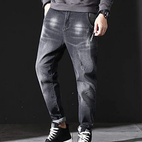 Alfabeto Harlan Moda uomo Matita Inverno Grigio Jeans Jogging Pantaloni Uomo Autunno Casuale Piedi YfXZx0g