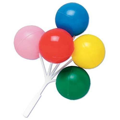 Oasis Supply Balloon Cluster for Cupcake/Cake, 5-Inch, Multicolored, Set of 4 Bowling Birthday Cake