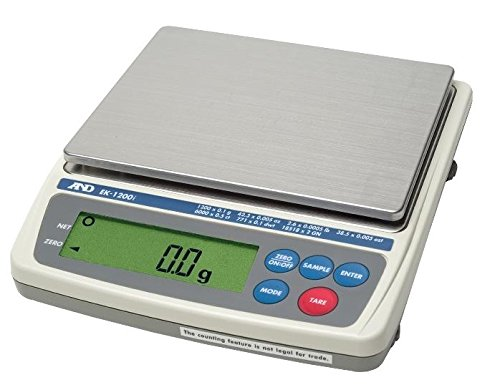 A&D Everest Compact Balance,Jewelry Scale EK-1200i, 1200 g X0.1 g, NTEP, Legal For Trade, New by A&D