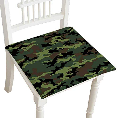- HuaWuhome Chair Pads Classic Design Fashionable Camouflage Seamless Paper Cotton Canvas Futon 32