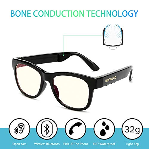 30fa59e3a785c Bluetooth Headphones Wireless Stealth Headphone Glasses Sunglasses Bone  Conduction Waterproof Intelligent Songs Artifact 6 Color Microphone