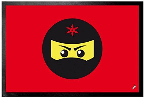 1art1 Gaming - Icono Ninja, Rojo Felpudo Alfombra (60 x 40cm ...