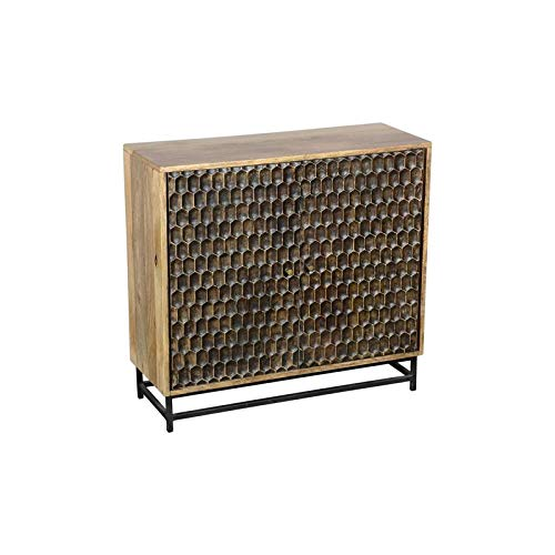 Hawthorne Collections Honeycomb Solid Mango Wood Two Door Cabinet by Hawthorne Collections