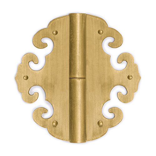 Flower Hinge - Chinese Brass Hardware Four Flowers Hinges 3.1