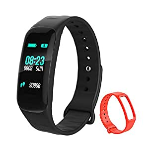 Smart Watch,Leelbox Fitness Tracker Activity Tracker Band Bracelet Waterproof Bluetooth Smartwatch Wristband with Heart Rate Monitor Pedometer Sleep Monitor Calorie Counter Blood Pressure for iPhone and Android Smart Phones