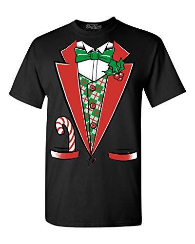 (Shop4Ever Tuxedo Christmas Costume T-shirt #12258 Funny Xmas Shirts X-Large)