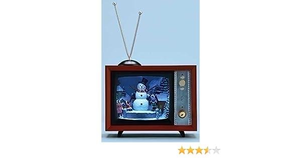 Roman 9 cm diversiones Musical Dibujos Animados Iluminado muñeco de Nieve Rojo TV Box decoración de Navidad: Amazon.es: Hogar