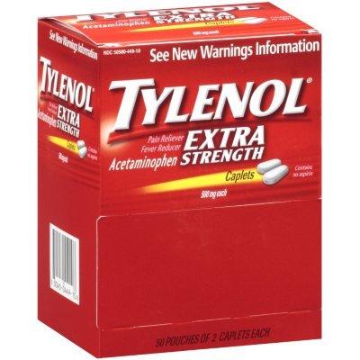 Tylenol® Extra Strength Caplets, 100ct (2-50ct. packs..)