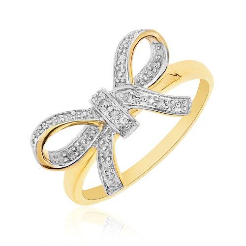 Bague - 9 - RD9442 - Femme - Or jaune (9 carats) 1.98 Gr - Diamant