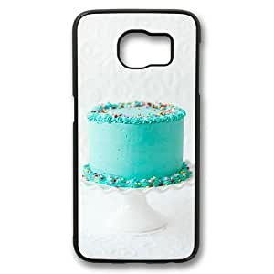 Cute Cake Theme Case for Samsung Galaxy S6 PC Material Black