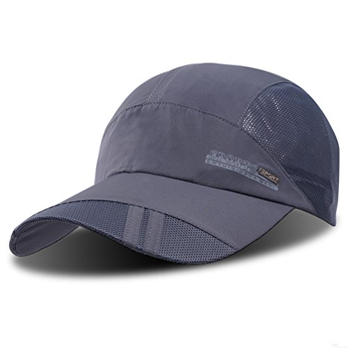 GADIEMENSS Quick Dry Sports Hat Lightweight Breathable Soft Outdoor Run Cap (Classic series, DimGray) (Classic Cap Lightweight)