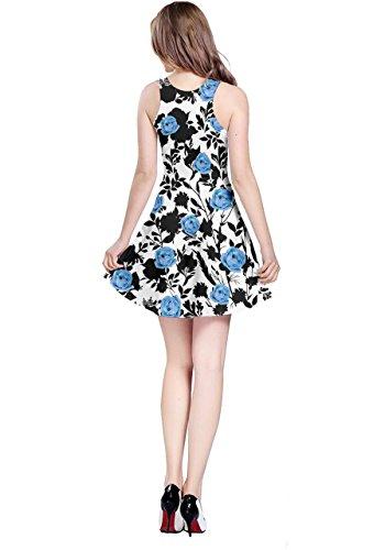 Nera Blu Soluzione Continuità Senza Marine A Carino Ombra Balene Blu Vestito Doodle Womens Pieghe Cowcow Di 6qAwtTAB